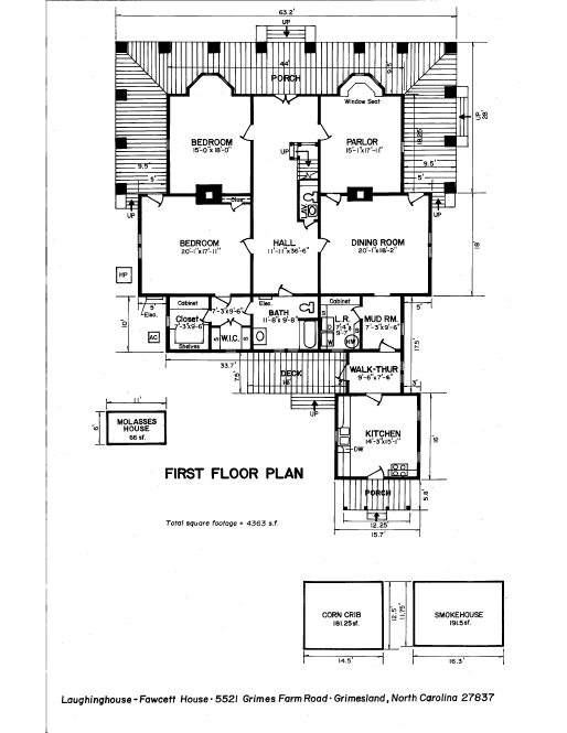 First Floor Plan Laughinghouse-Fawcett