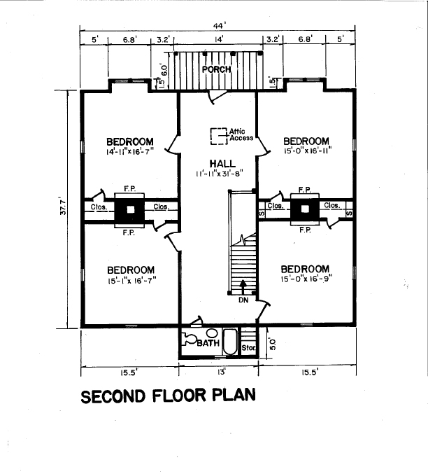 Second Floor Plan Laughinghouse-Fawcett