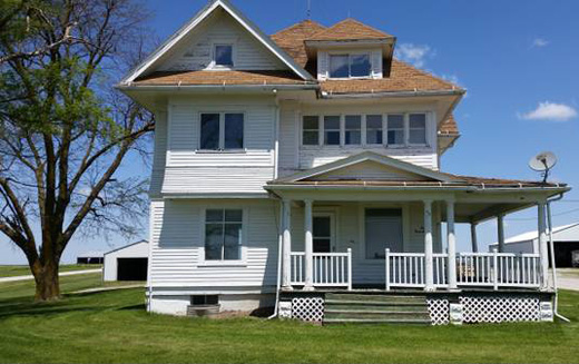 Front View of Farmhouse with $75K Remodel